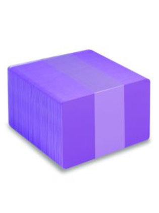 Blank Purple Printable PVC Cards - Pack of 100 (PURPLEPVC760)