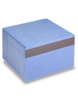 Blank Mid Blue Printable PVC Cards with Mag Stripe - Pack of 100 (MBLMAGPVC760)