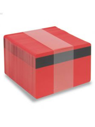Blank Red Printable PVC Cards with Magnetic Stripe - Pack of 100 (REDMAGPVC760)