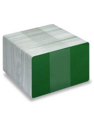 Blank Dark Green/White Printable PVC Cards - Pack of 100 (WDGREENPVC760)