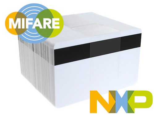 MIFARE Classic® 1K NXP EV1 Cards with Hi-Co Magnetic Stripe - Pack of 100