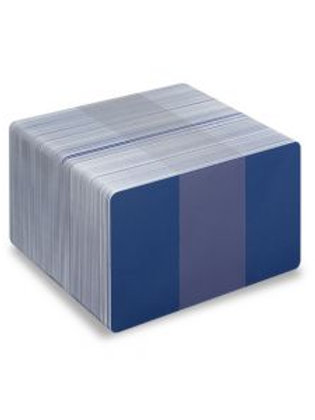 Blank Mid Blue/White Printable PVC Cards - Pack of 100 (WMBLUEPVC760)
