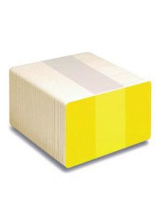 Blank Yellow/White Printable PVC Cards - Pack of 100 (WYELLOWPVC760)