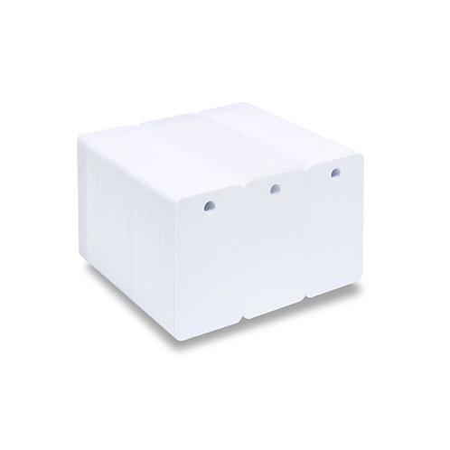 Blank 3 Key Fob Printable PVC Cards - Pack of 100 (KEYFOB3PVC760)