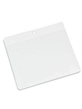 Clear Flexible 'Vision' Badge Holder - Landscape 106mm x 80mm (Pack of 100)