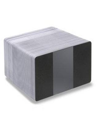 Blank Black Glitter/White Printable PVC Cards - Pack of 100 (WBGLITTERPVC760)