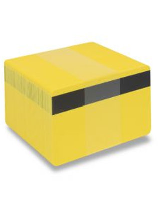 Blank Yellow Printable PVC Cards with Mag Stripe - Pack of 100 (YELMAGPVC760)