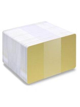 Blank Metallic Light Gold /White PVC Cards - Pack of 100 (WLGMETALLICPVC760)