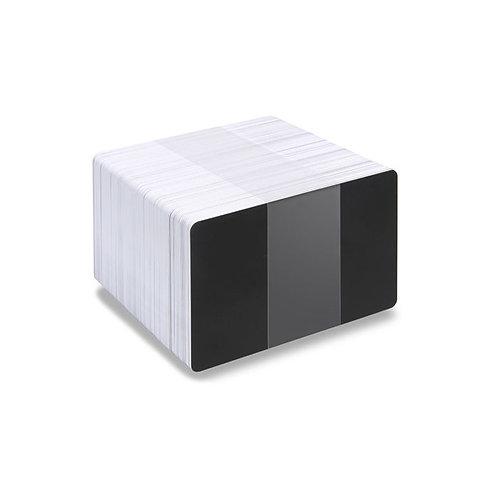 Blank Black/White Reverse Printable PVC Cards - Pack of 100 (WRBLACKPVC760)