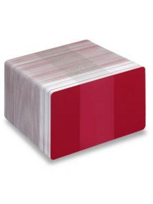 Blank Burgundy/White Printable PVC Cards - Pack of 100 (WBURGUNDYPVC760)