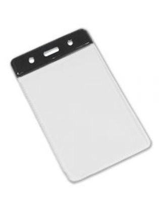 Clear Flexible 'Vision' Badge Holder - Portrait 86mm x 54mm (Pack of 100)