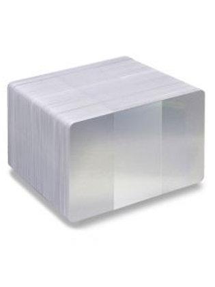 Blank Silver Glitter/White Printable PVC Cards - Pack of 100 (WSGLITTERPVC760)