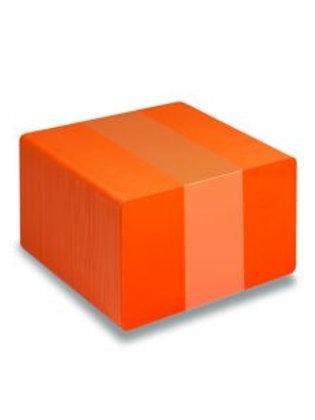 Blank Orange Printable PVC Cards - Pack of 100 (ORANGEPVC760)
