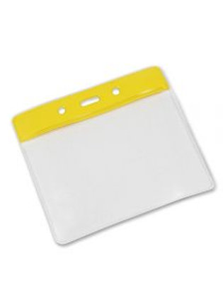 Clear Flexible 'Vision' Badge Holder - Landscape 100mm x 70mm (Pack of 100)