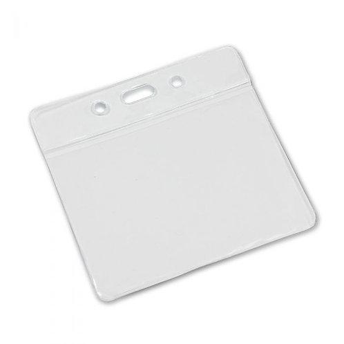 Clear Flexible 'Vision' Badge Holder - Landscape 86mm x 54mm (Pack of 100)