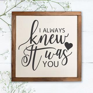 I Always Knew It Was You