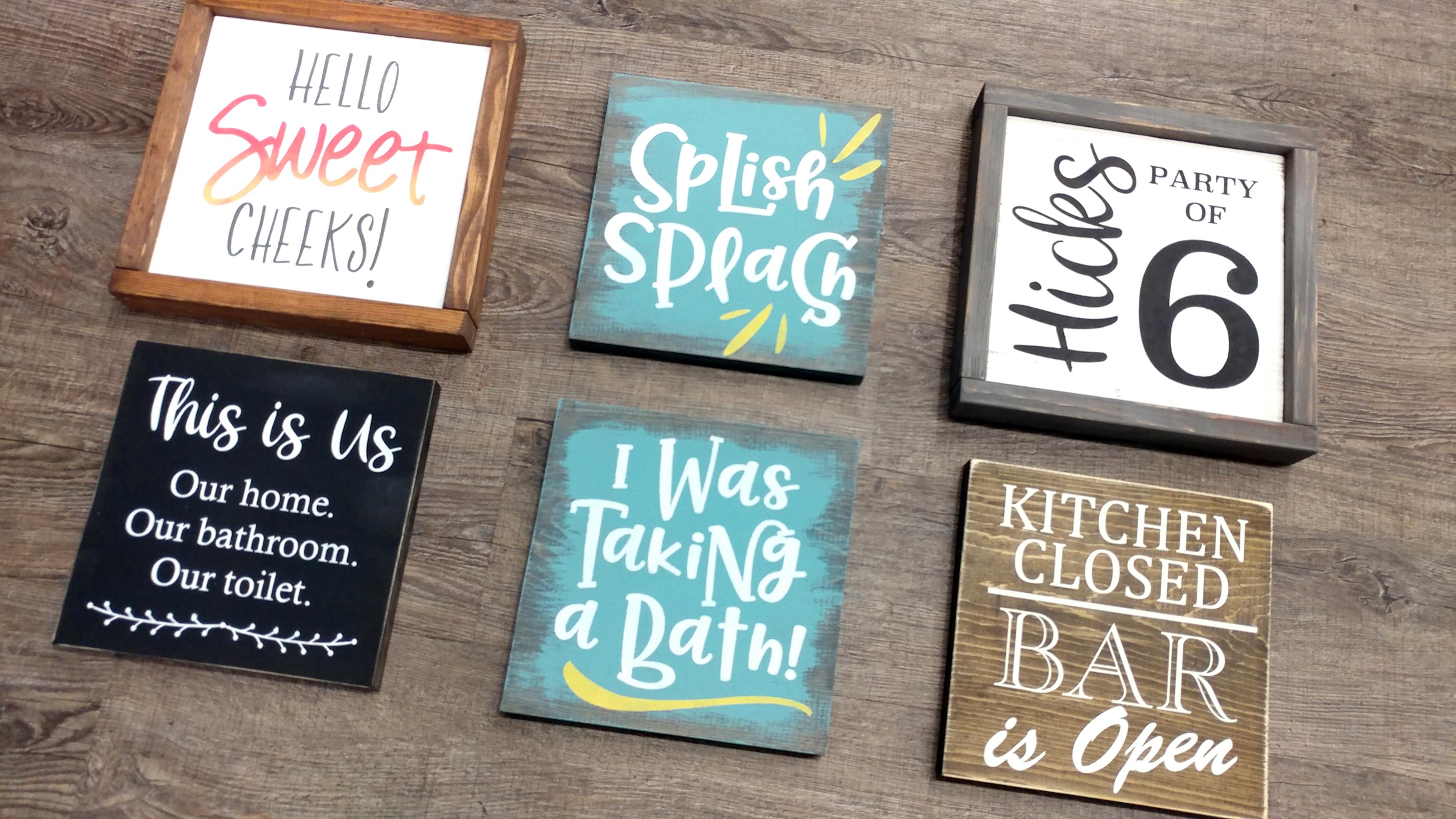 Double Diy Bath Kitchen Signs Make 2