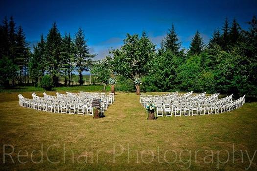 White Padded Wedding Chairs