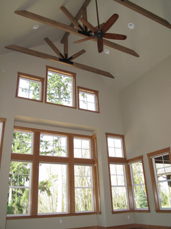 Vault with ceiling fan