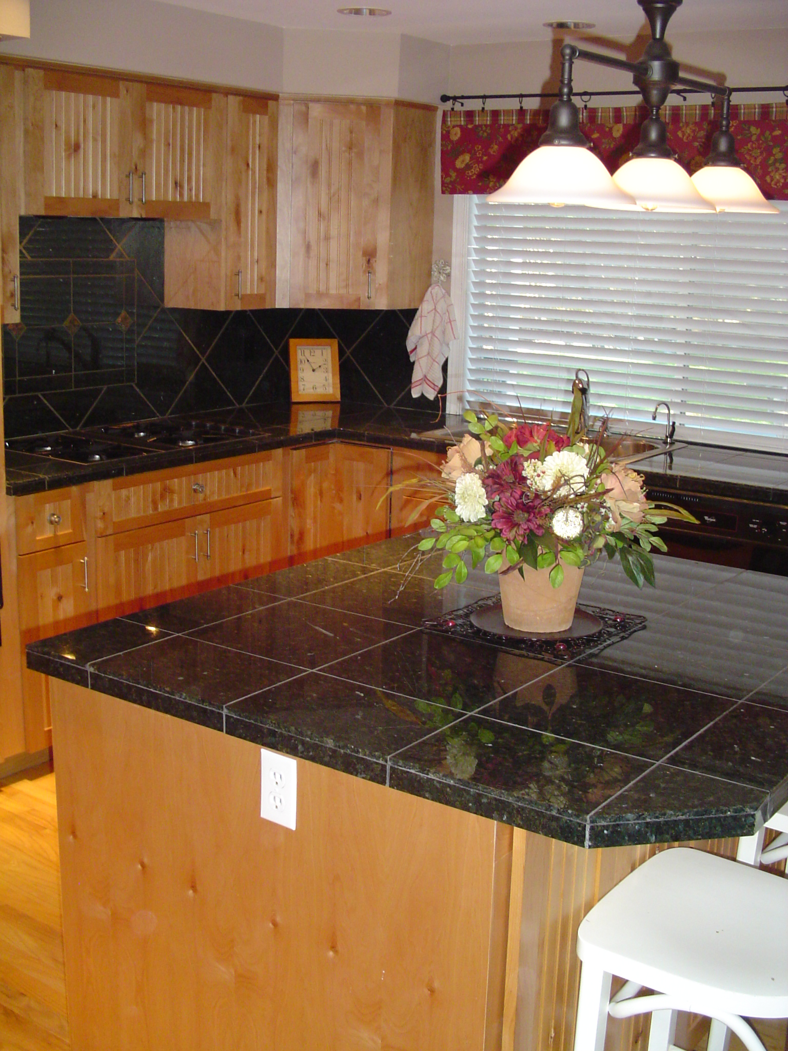 granite tile kitchen
