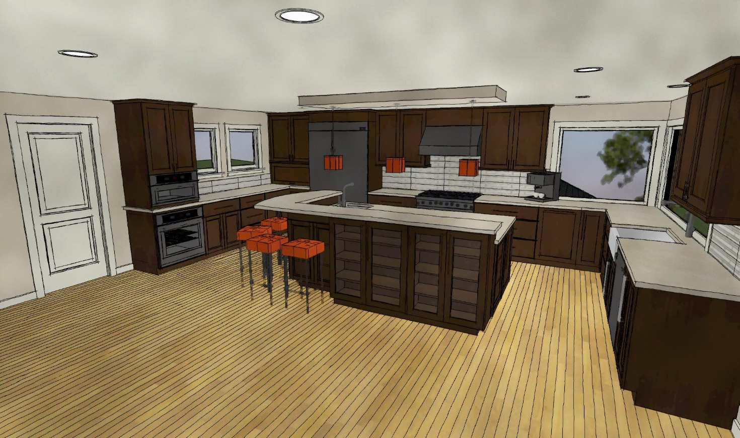 Kitchen concept drawing