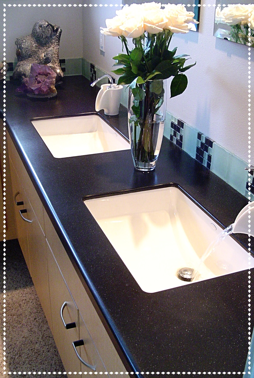 Master bath vanity double sinks