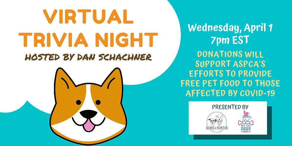 Virtual Trivia Night: Hosted by Puppy Bowl Referee Dan Schachner!