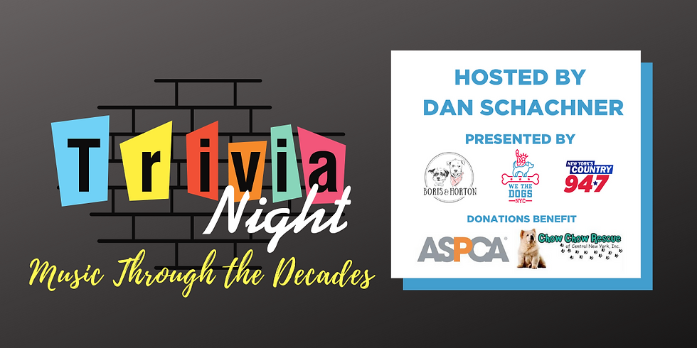 Virtual Trivia Night and Raffle hosted by Puppy Bowl Referee Dan Schachner!