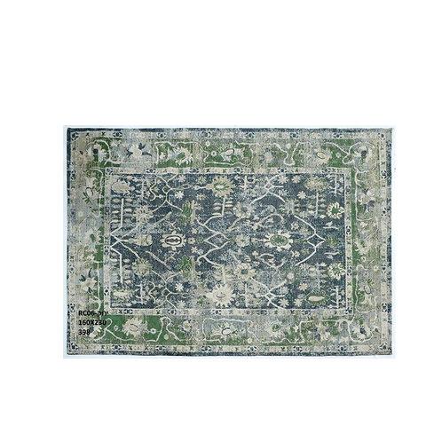 שטיח קלאסי לעיצוב הבית דוגמא אתנית ירוק