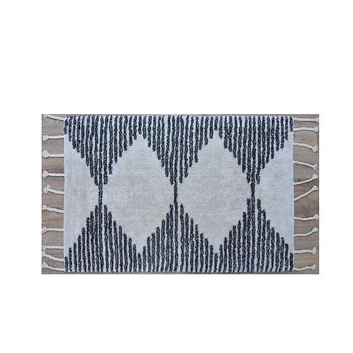 שטיח שאגי דוגמת משולשים כותנה גודל בינוני