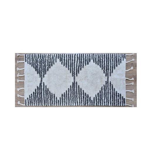 שטיח שאגי דוגמת משולשים כותנה קטן