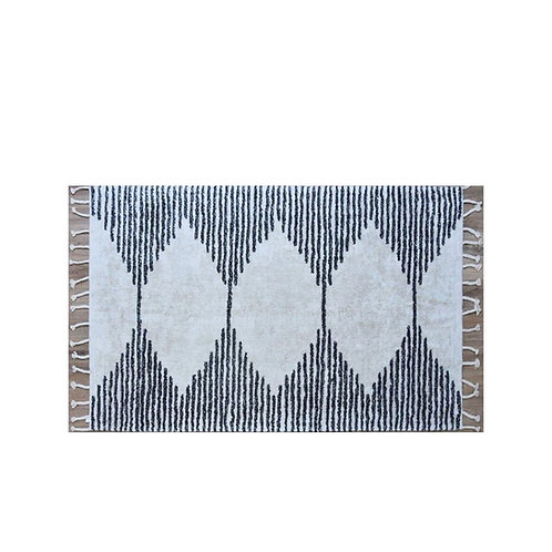 שטיח שאגי דוגמת משולשים כותנה גדול