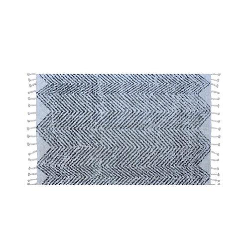 שטיח שאגי דוגמת זיג זג כותנה גדול