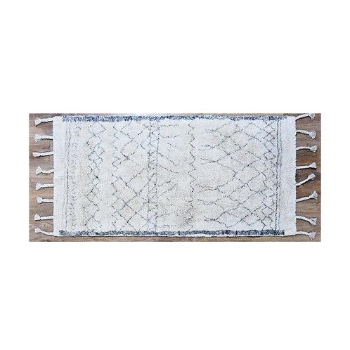 שטיח שאגי דוגמת קווים כותנה קטן