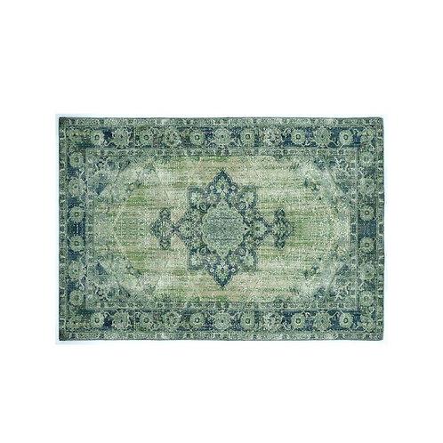 שטיח קלאסי לעיצוב הבית דוגמא מנדלה ירוק