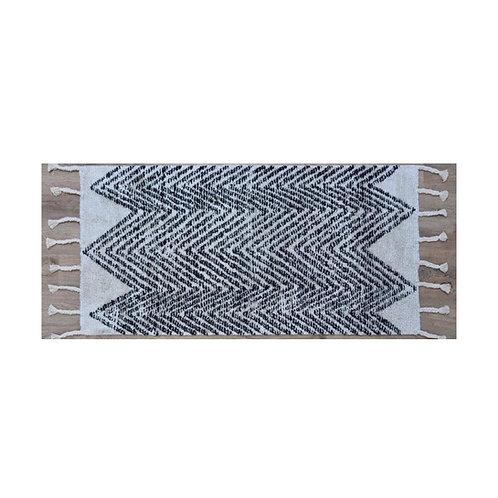 שטיח שאגי דוגמת זיג זג כותנה קטן
