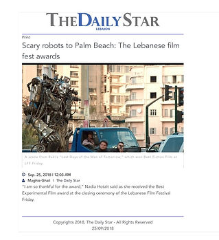 Scary robots to Palm Beach- The Lebanes.