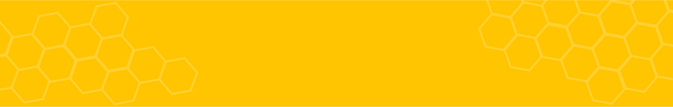 Page banner displaying yellow color with honeycombs on the side.