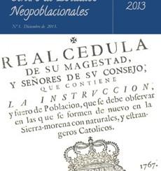 Primer número del Boletín del Centro de Estudios Neopoblacionales
