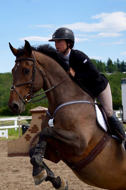 Katherine riding Lukas