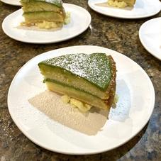 Matcha Cream Cake  & Green Apples
