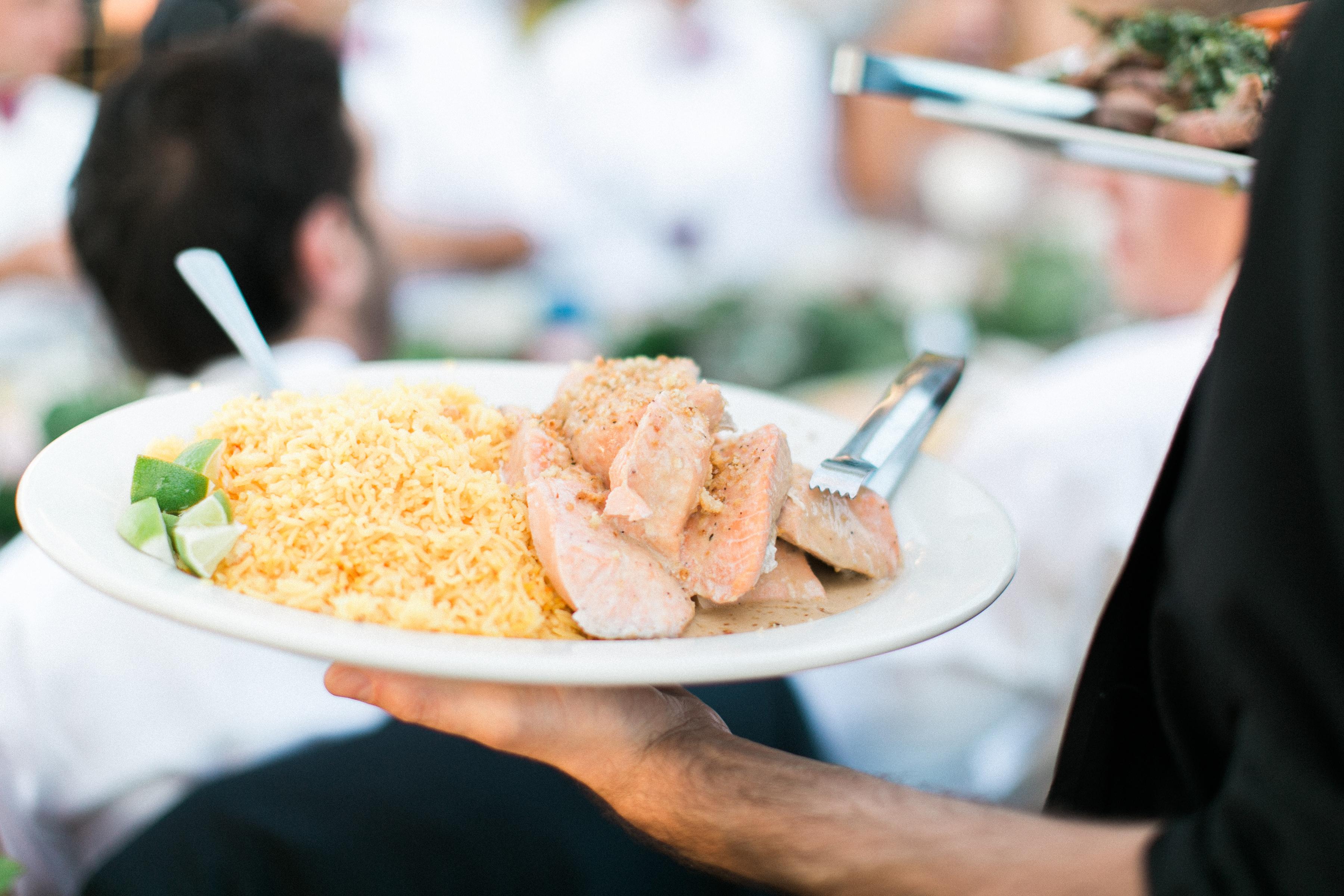 Salmon & Saffron Rice Family Style