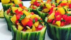 Mango Chutney Cucumber cups