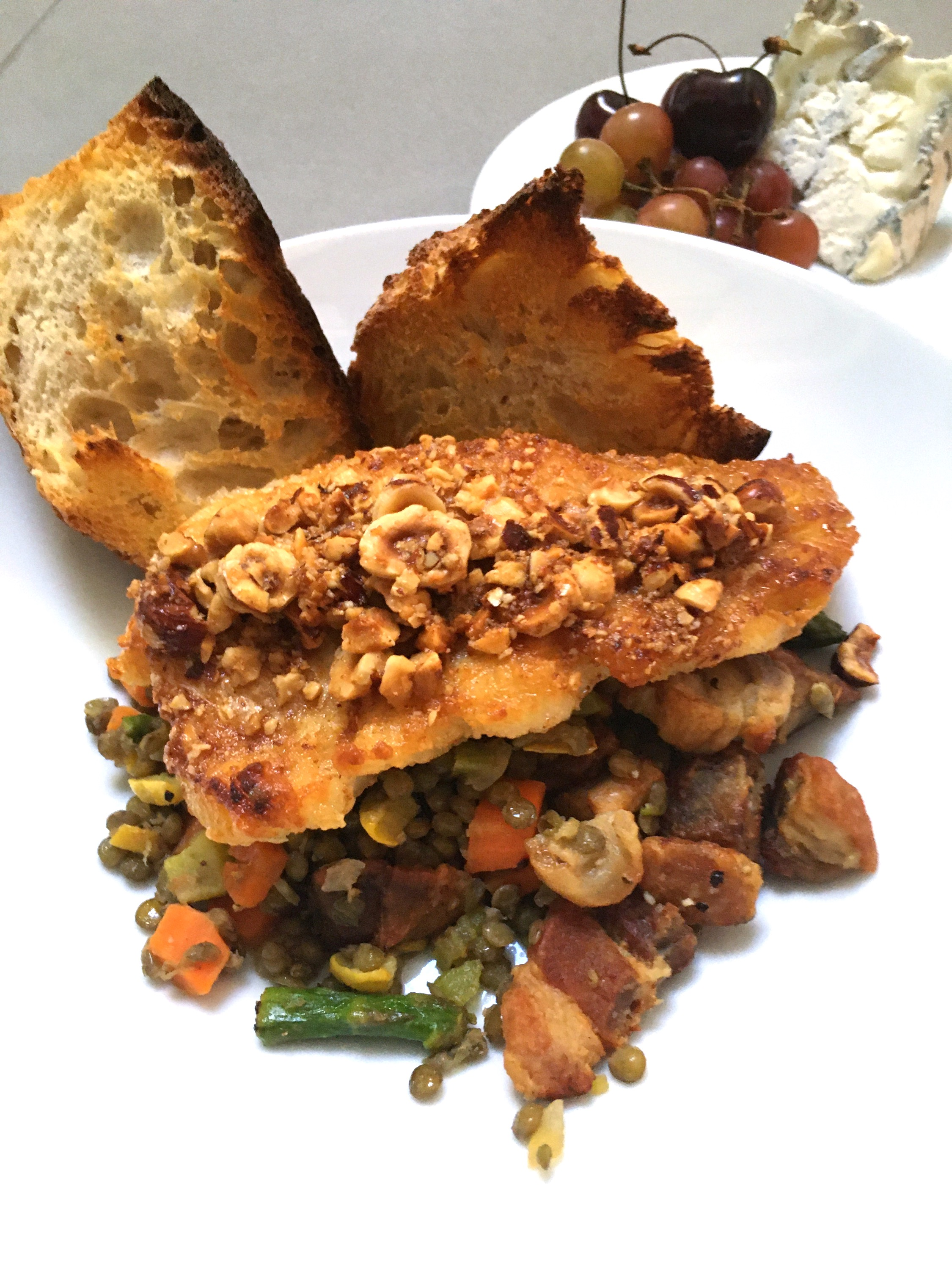 Roasted Cod & Lentils