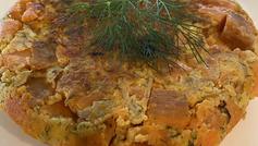 Sweet Potato Spanish Tortilla with Chevre & Dill