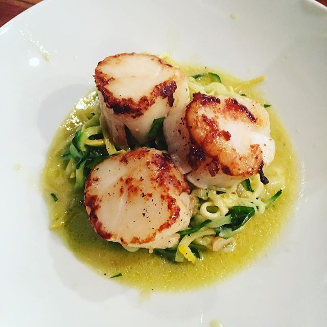 Scallops with Squash Noodles