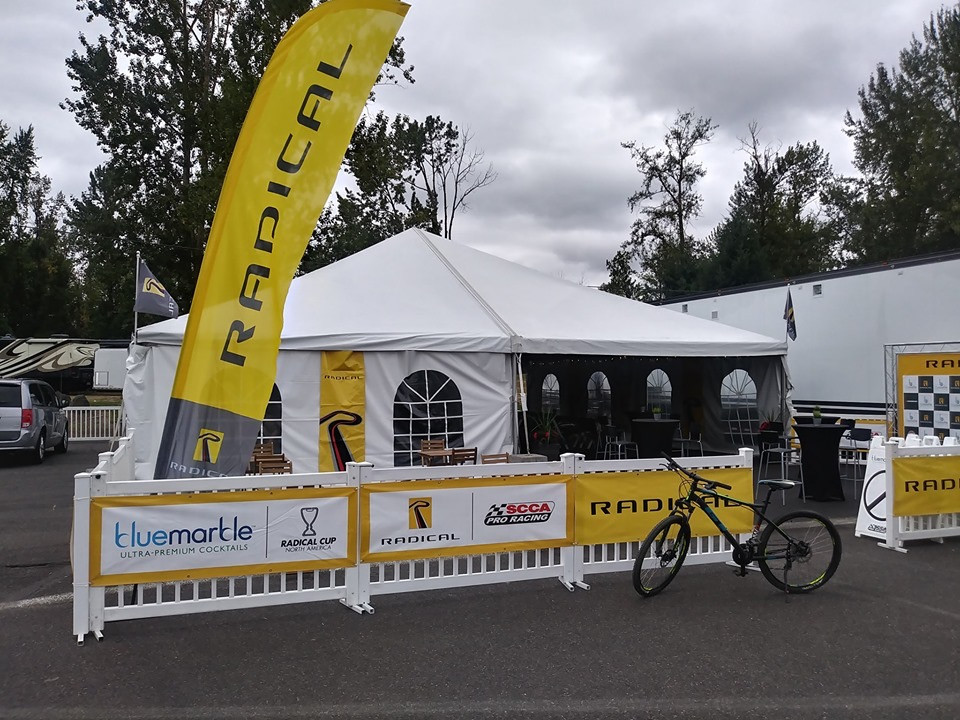 Portland Auto Racing Catering Tent