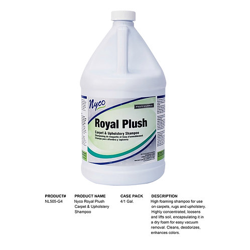 Nyco Royal Plush Carpet & Upholstery Shampoo