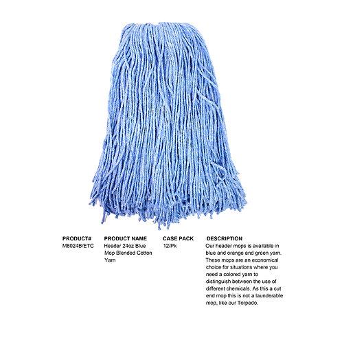 Header 24oz Blue Mop Blended Cotton Yarn
