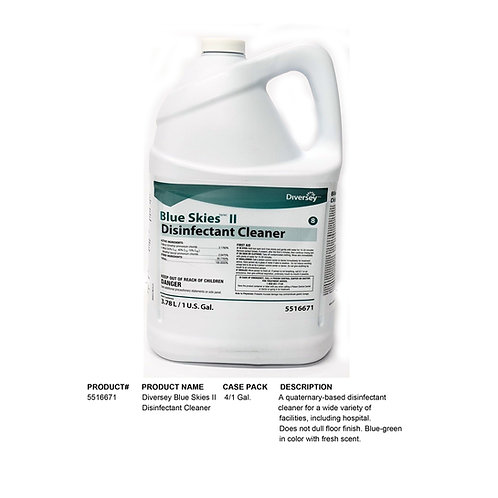 Diversey Blue Skies II Disinfectant Cleaner